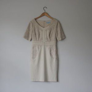 Antonio Melani Beige Short Sleeve Dress